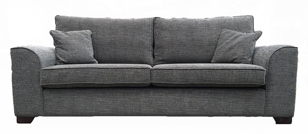 Leon Grand Sofa in Corrine Charcoal
