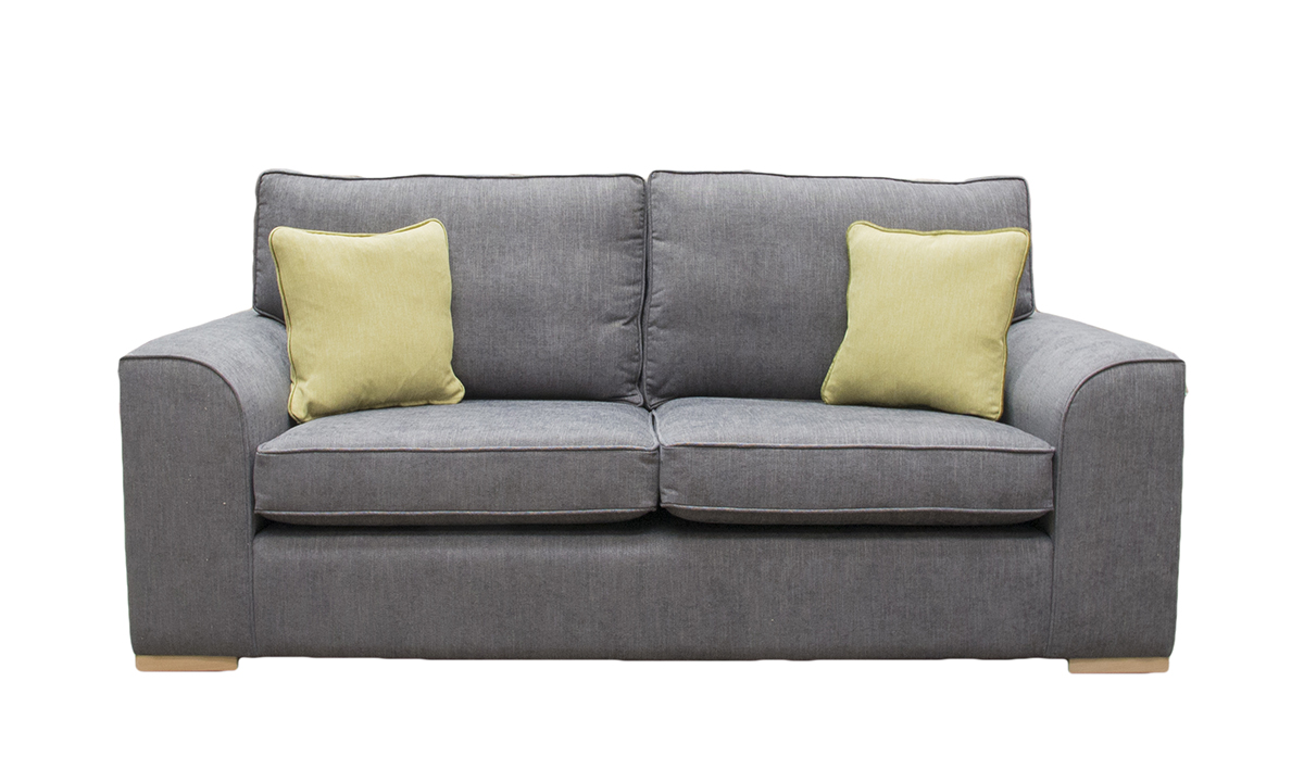 Leon Large Sofa  in C.Pearl Slate, Bronze Collection Fabric