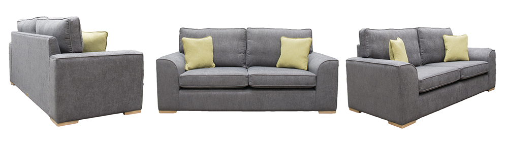 Leon Large Sofa C.Pearl Slate – Bronze Collection