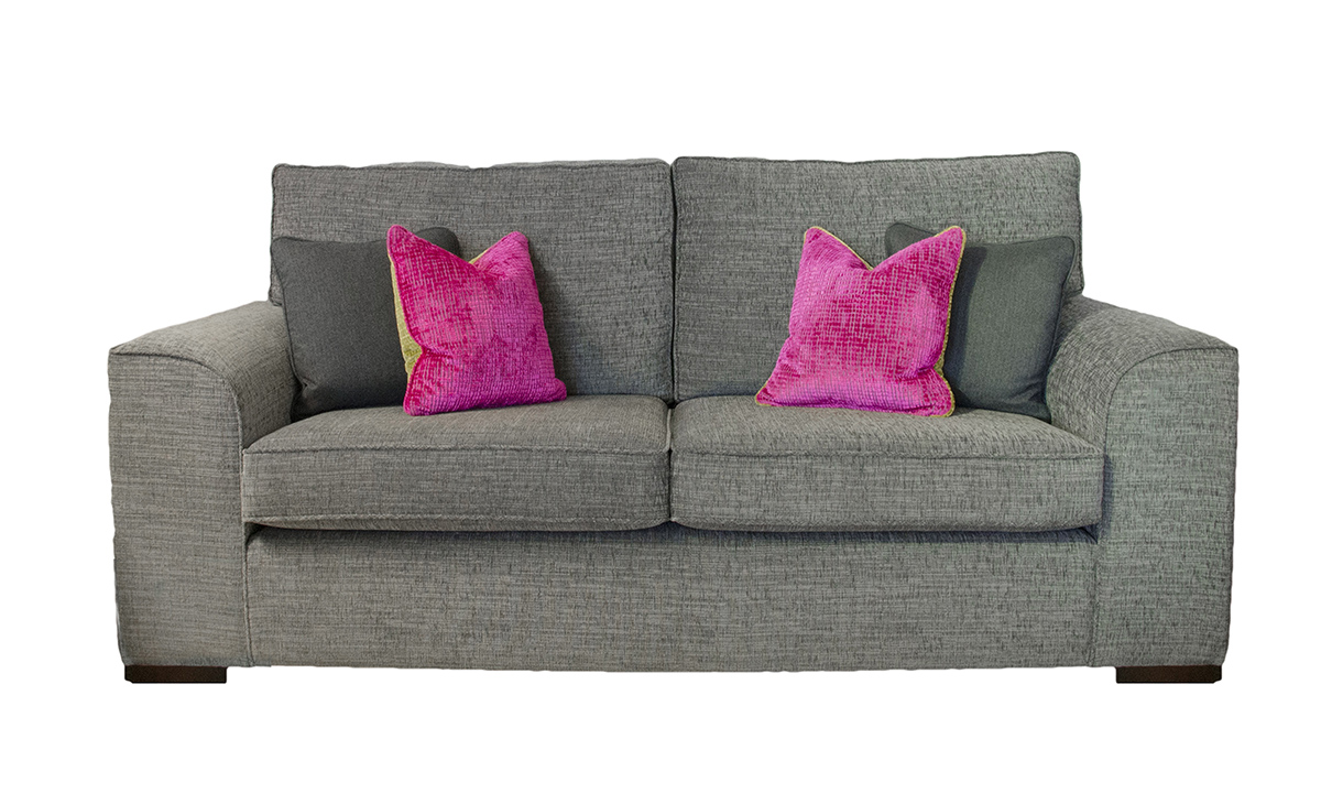 Leon Large Sofa in Corrine Charcoal, Bronze Collection Fabric
