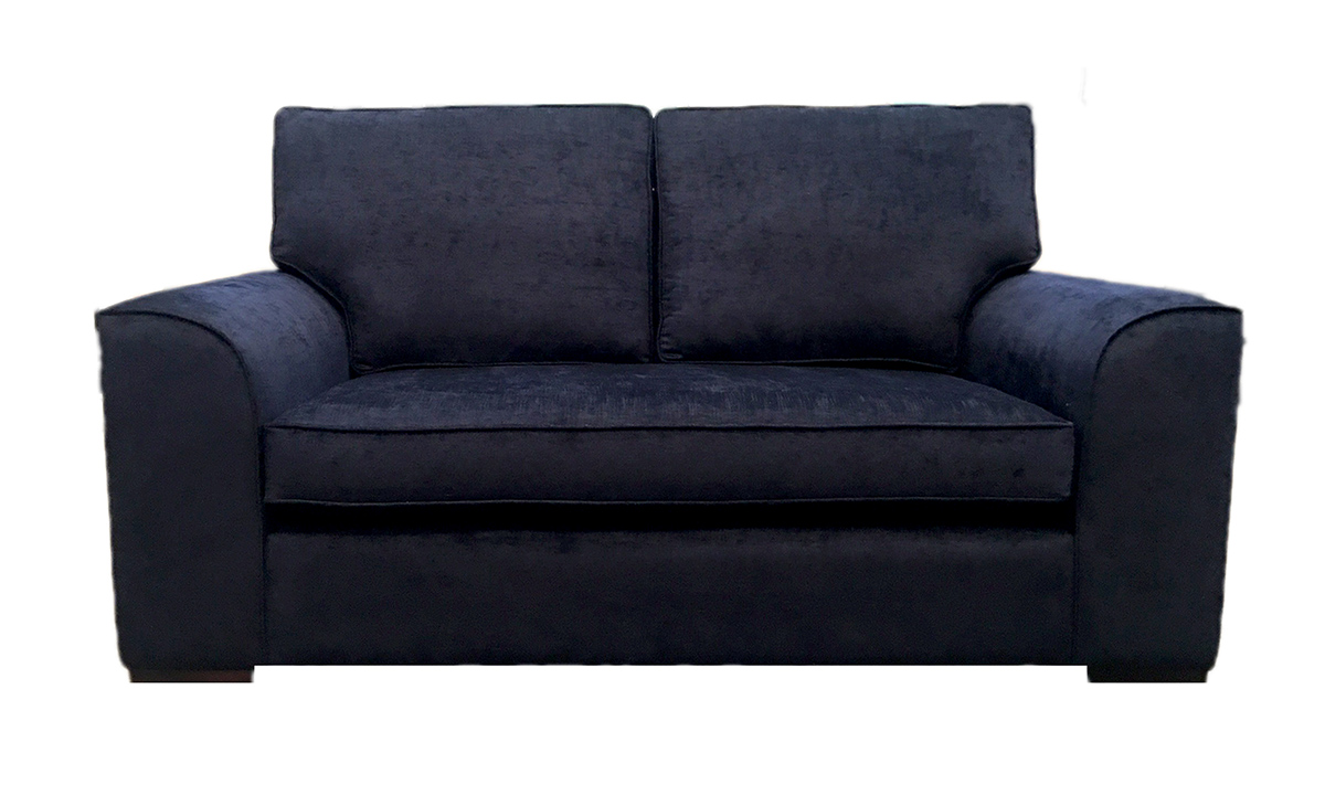Bespoke Leon Large Sofa with a Bench Seat in Edinburgh Carbon, Silver Collection Fabric