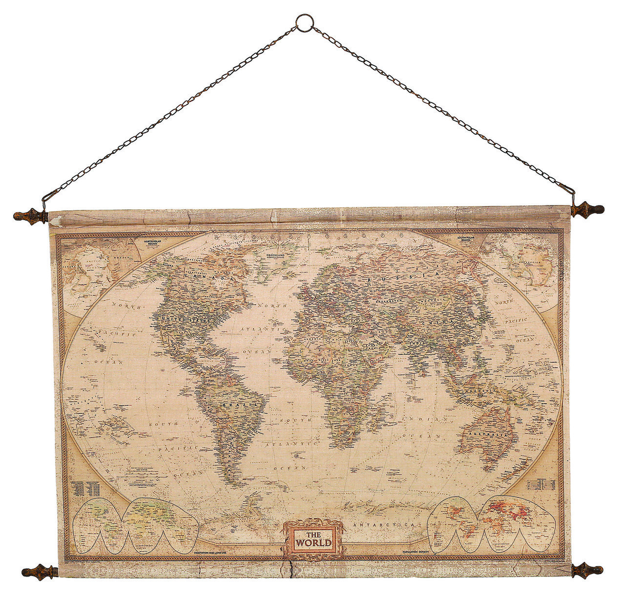 LY018 VINTAGE WORLD MAP MB62 Mindy Brownes €79.95
