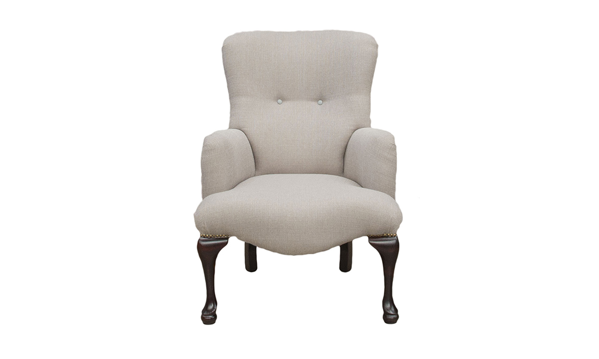 Aisling Chair in Aosta Putty, Silver Collection