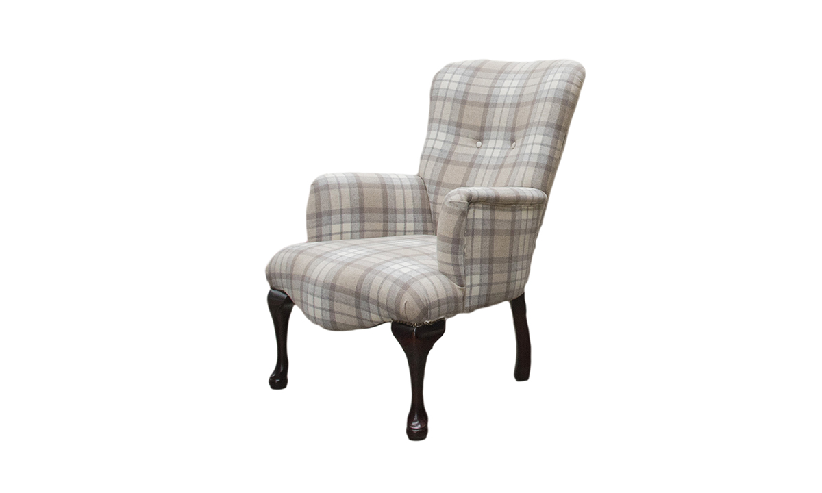 Aisling Chair in Country Plaid Earth