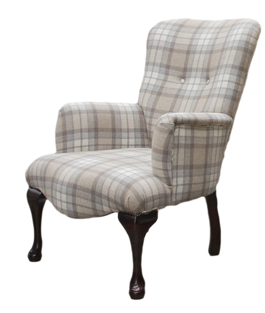 Aisling Chair Side - Country Plaid Earth