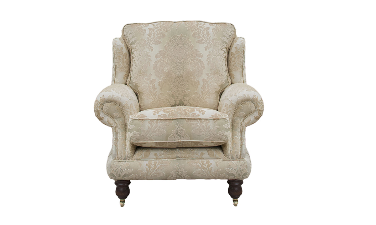 Alexandra Chair in Sonoma Stripe Gold, Platinum Collection Fabric
