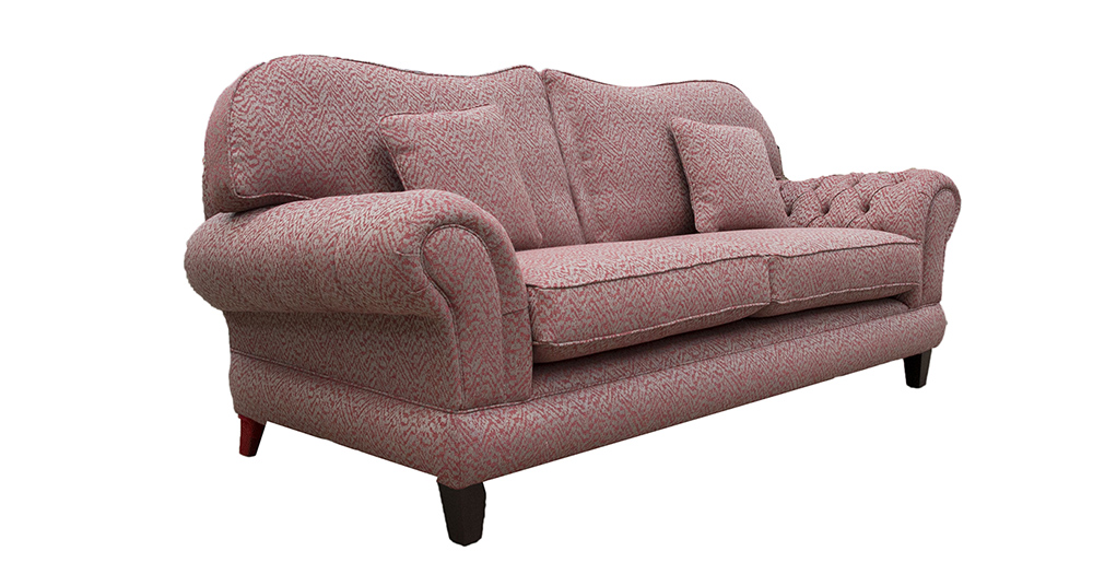 Alexandra Large Sofa Sofa with Deep Button Arms in Customers Own Fabric