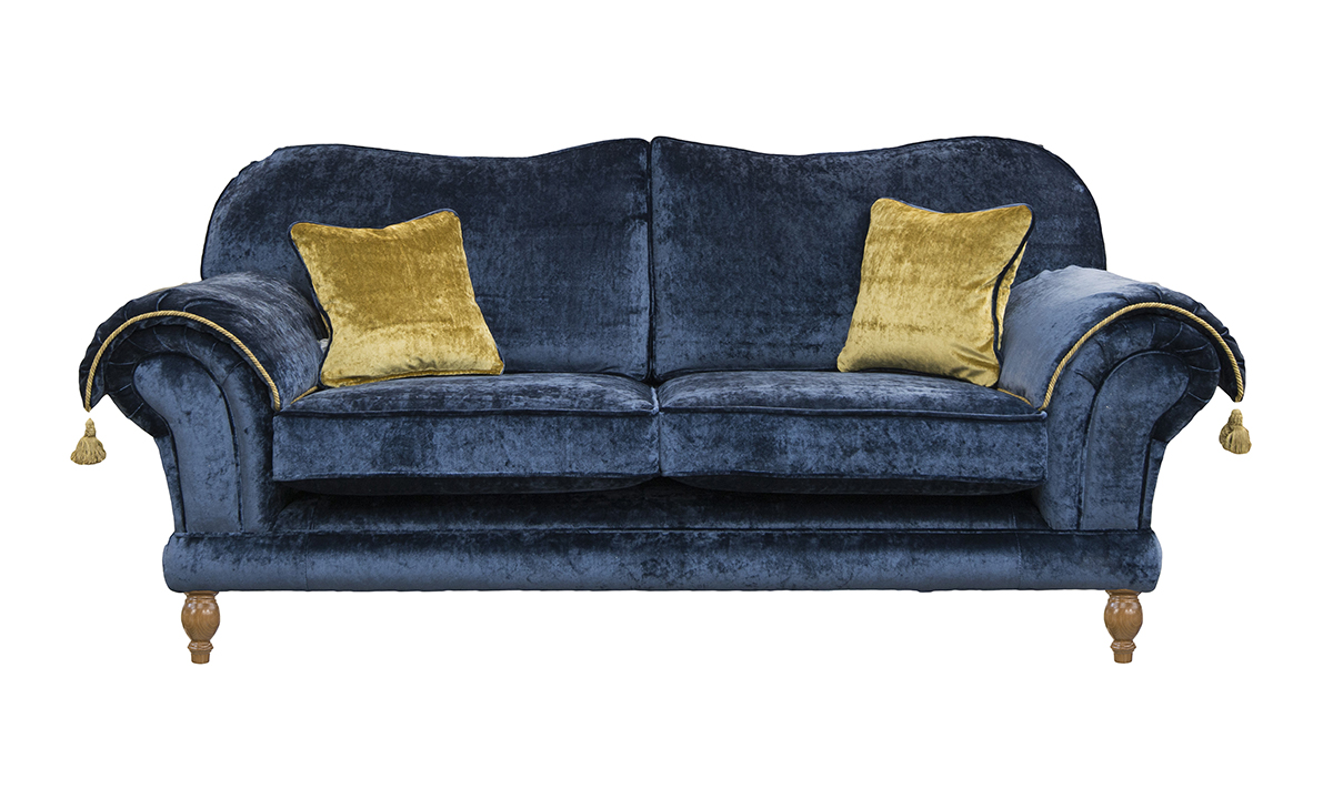 Alexandra Large Sofa in Vistella Royal, Platinum Collection Fabric