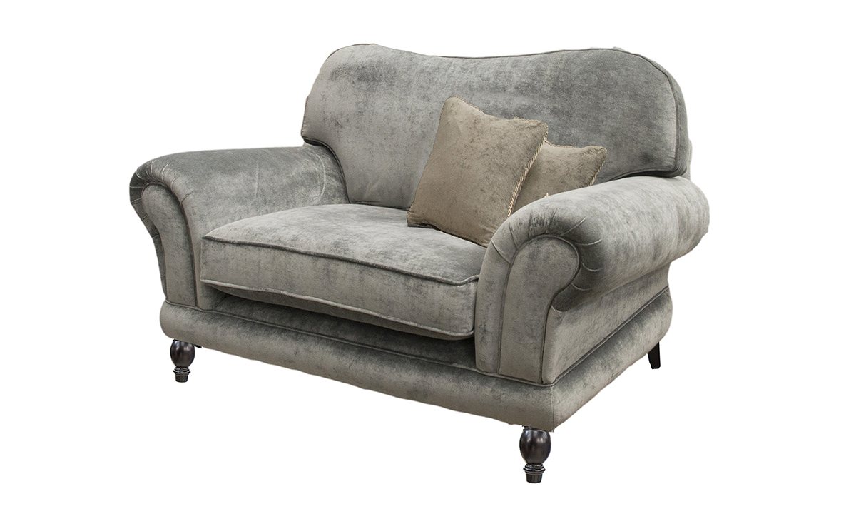 Alexandra Love Seat in Customers Own Fabric