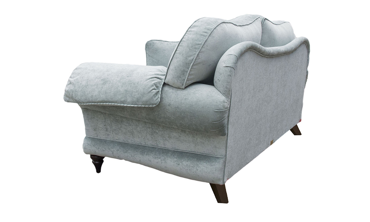 Alexandra Small Sofa in a Platinum Collection Fabric