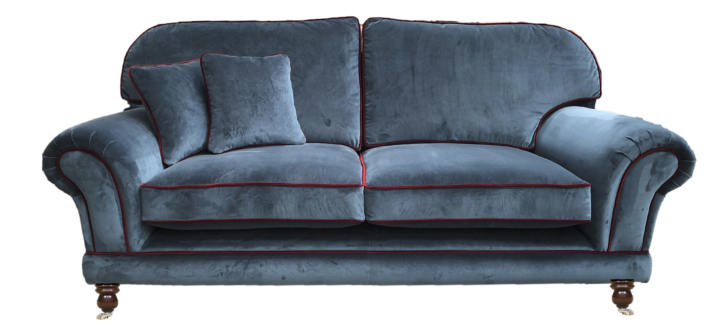 Bespoke Alexandra Large Sofa, Back Cushion to Finish  Straight in  Customers Own Fabric