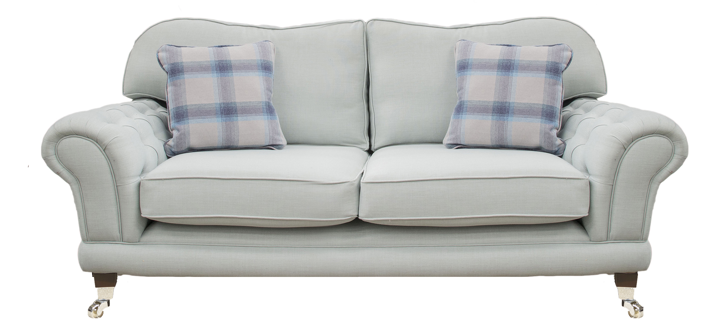 Alexandra Large Sofa With Deep Button Arms in Fontington Turin219 Duck Egg