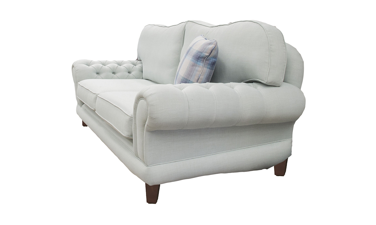 Alexandra Small Sofa with Deep Button Arms in Fontington Turin Tur 219 Duck Egg