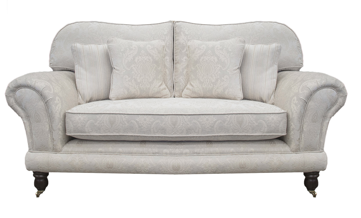 Bespoke Alexandra Small Sofa, Bench Seat in Tolstoy Pattern Snow, Platinum Collection Fabric