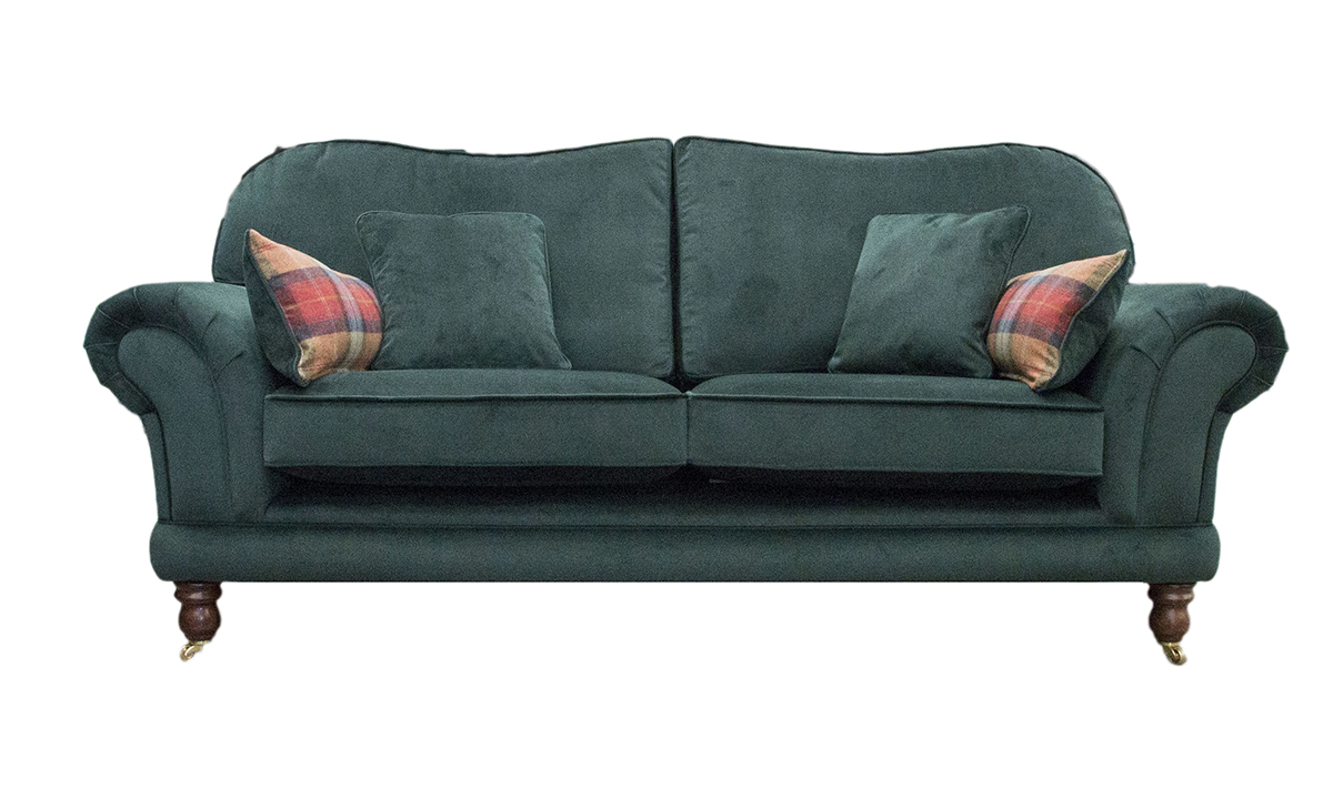 Alexandra Large Sofa in Warwick Plush Shamrock, Platinum Collection Fabric