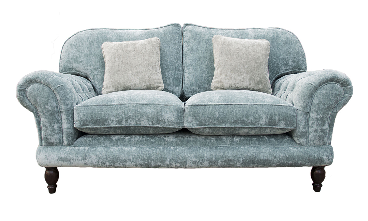 Alexnadra Small Sofa Deep Button Arms - Opulence Sky 12478
