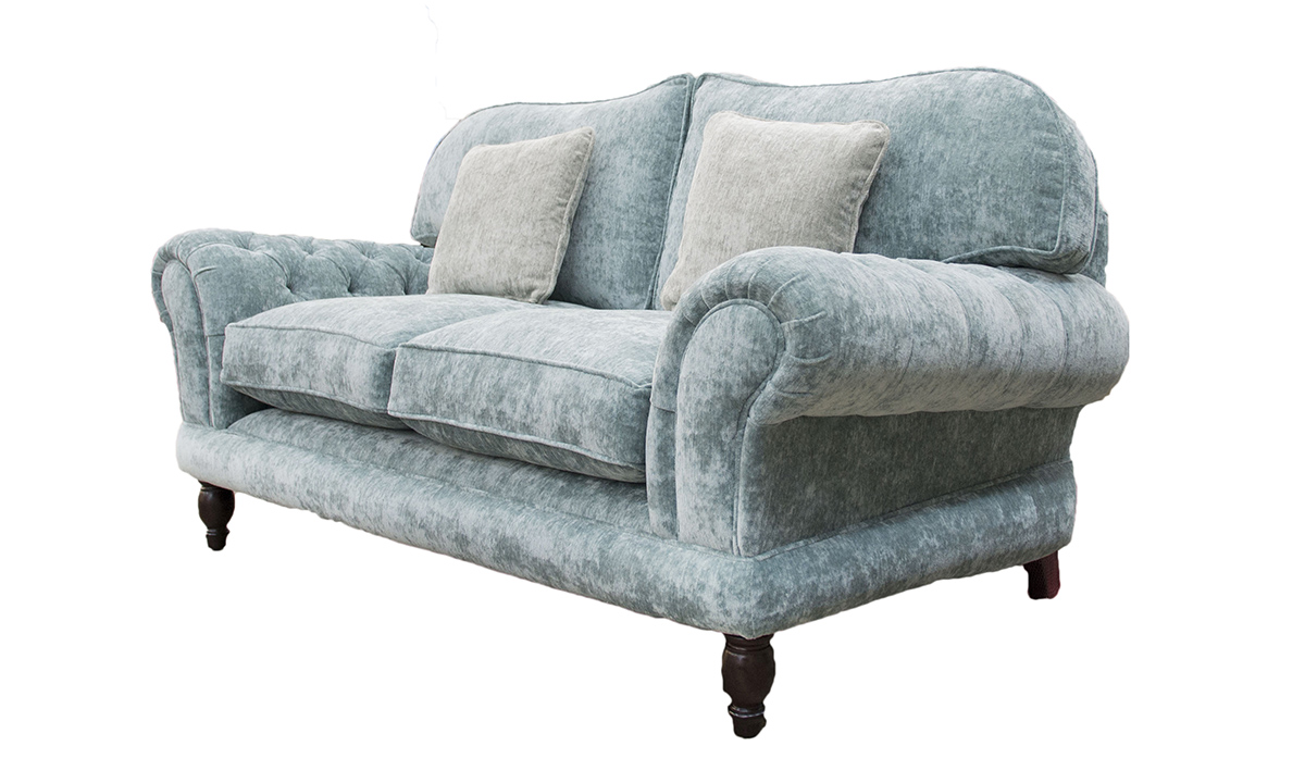 Alexnadra Small Sofa Deep Button Arms Side - Opulence Sky 12478