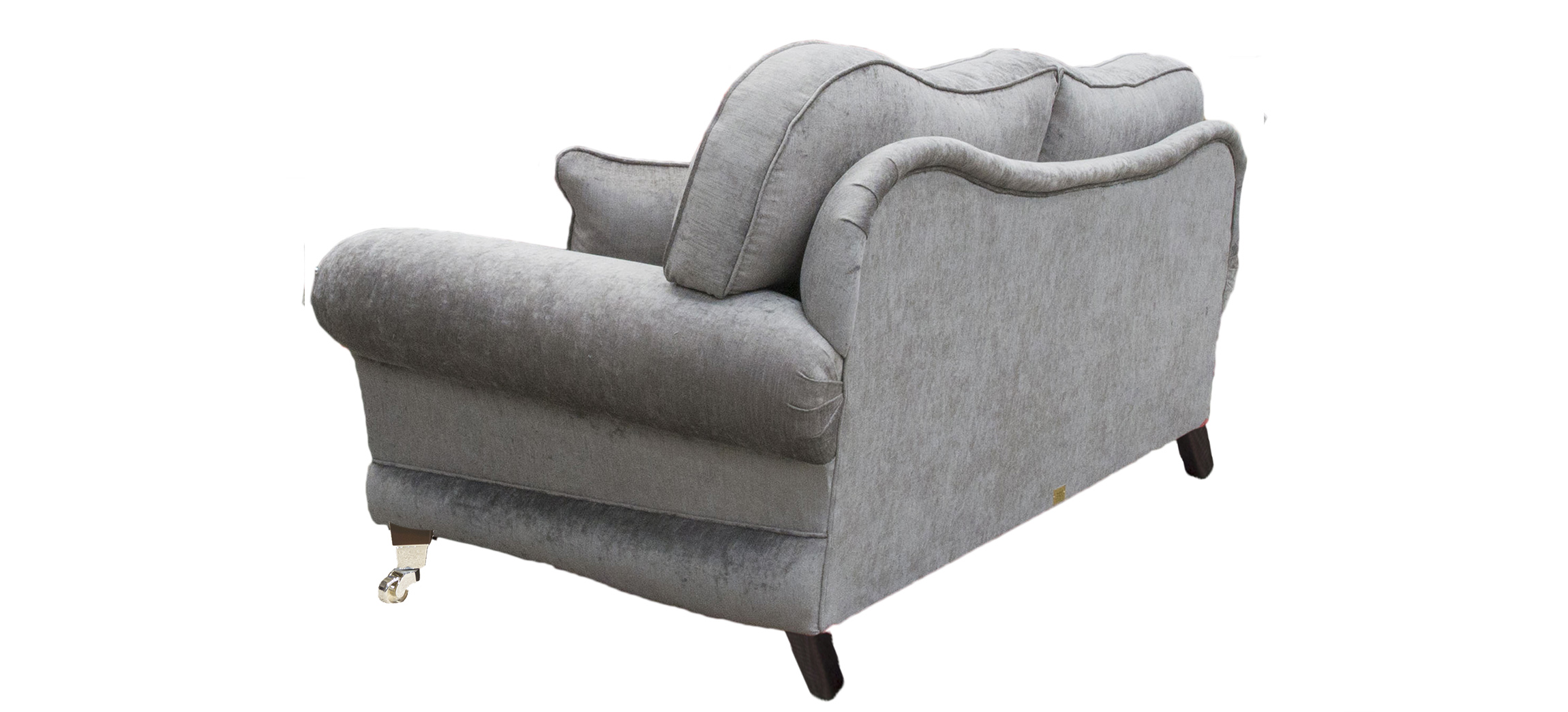 Alexandra Large Sofa with a  Pillow Back  in Silver Collection Fabric