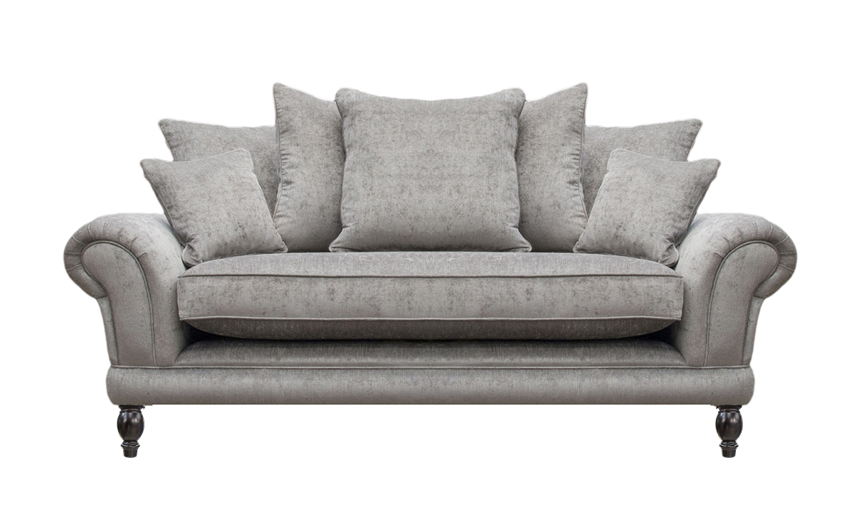 Alexis Large Sofa with a Bench Seat  (bespoke option) in a Silver Collection Fabric