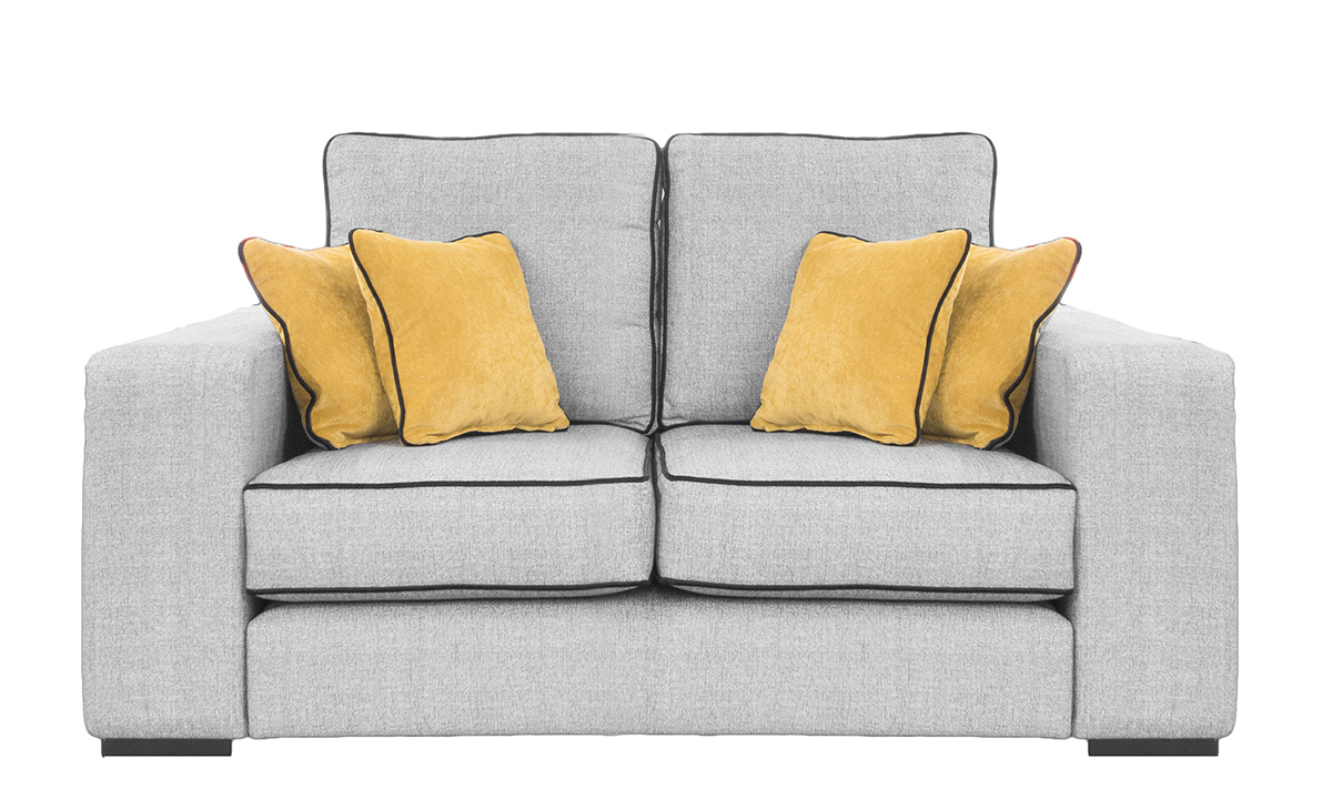 Antonio Small Sofa in Spencer Steel, Silver Fabric Collection