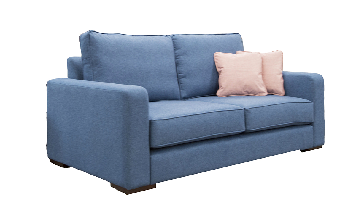 Antonio Sofa Side with Collins Arm in Tweed Navy Silver Collection