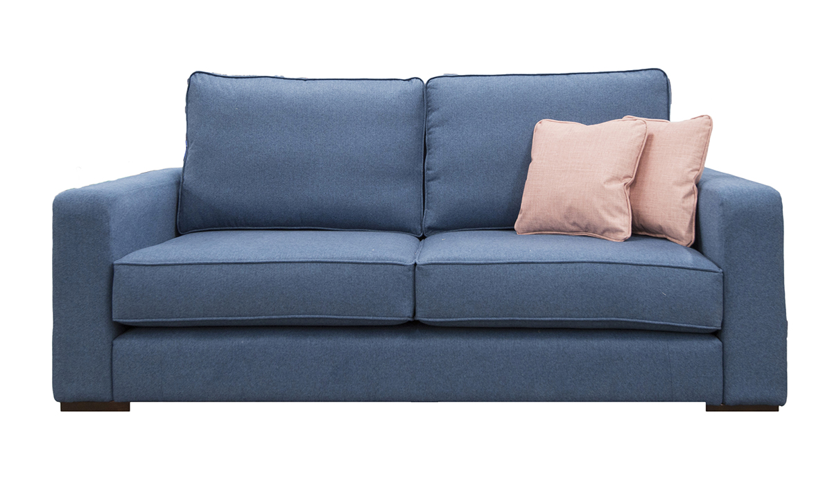 Antonio Sofa with Collins Arm in Tweed Navy Silver Collection