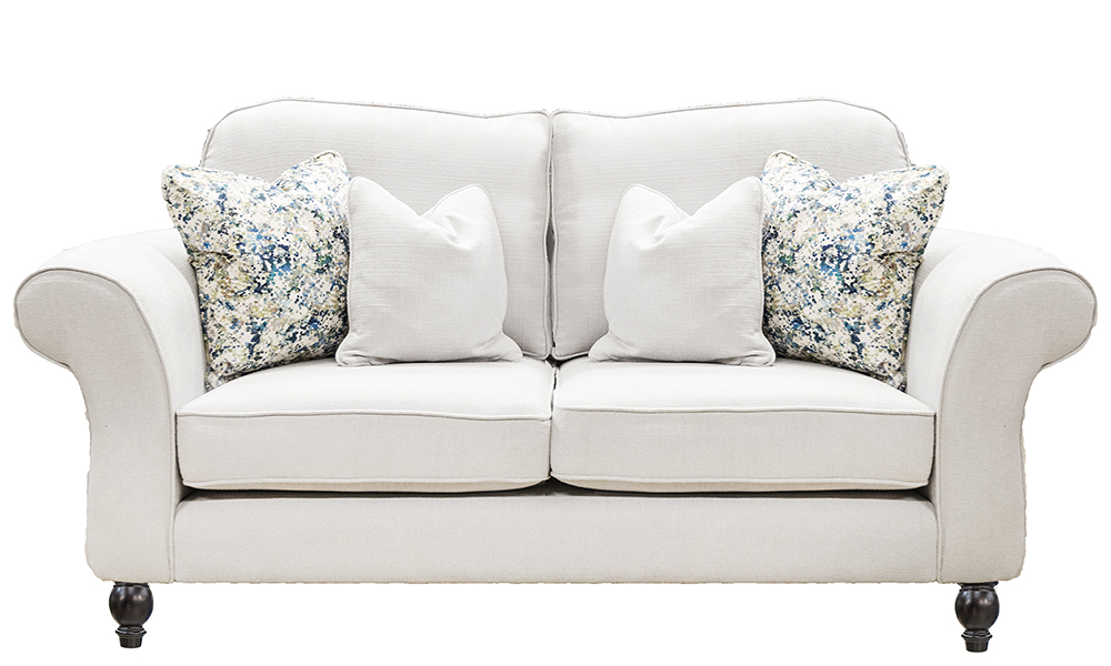 Ascot 2 Seater Sofa in JBrown Hendrix 808 Silver, Gold Collection Fabric