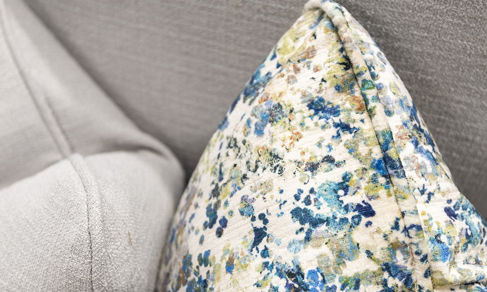 Scatter Cushion in Monet Saisons Winter, Platinium Collection Fabric