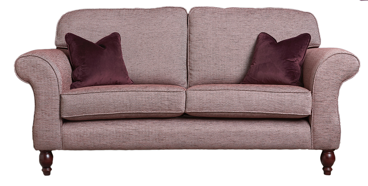 Ascot Large Sofa in Lenora Grape Silver Collection Fabric