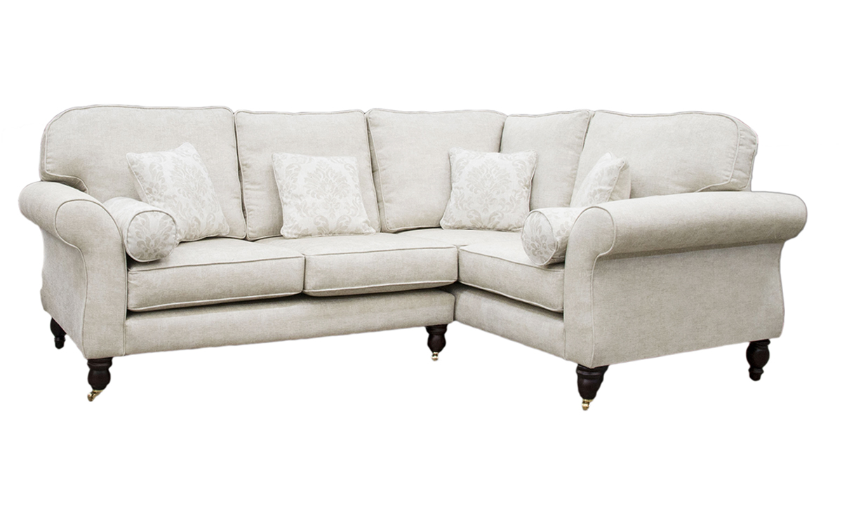 Aslan Corner Sofa in a Bronze Collection Fabric