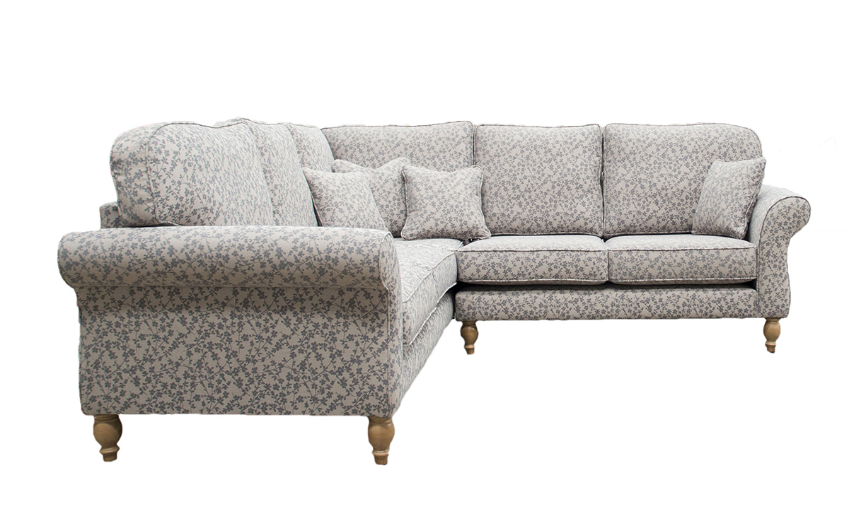 Aslan Corner Sofa in Kwint Grey,  Silver Collection