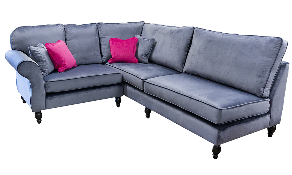Aslan Corner Sofa in Luxor Tempest Fabric Discontined
