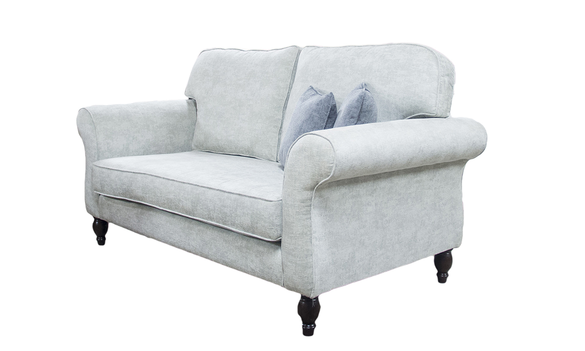 Aslan Small Sofa Side in Dagano Plain Chalk Bronze Collection Fabric