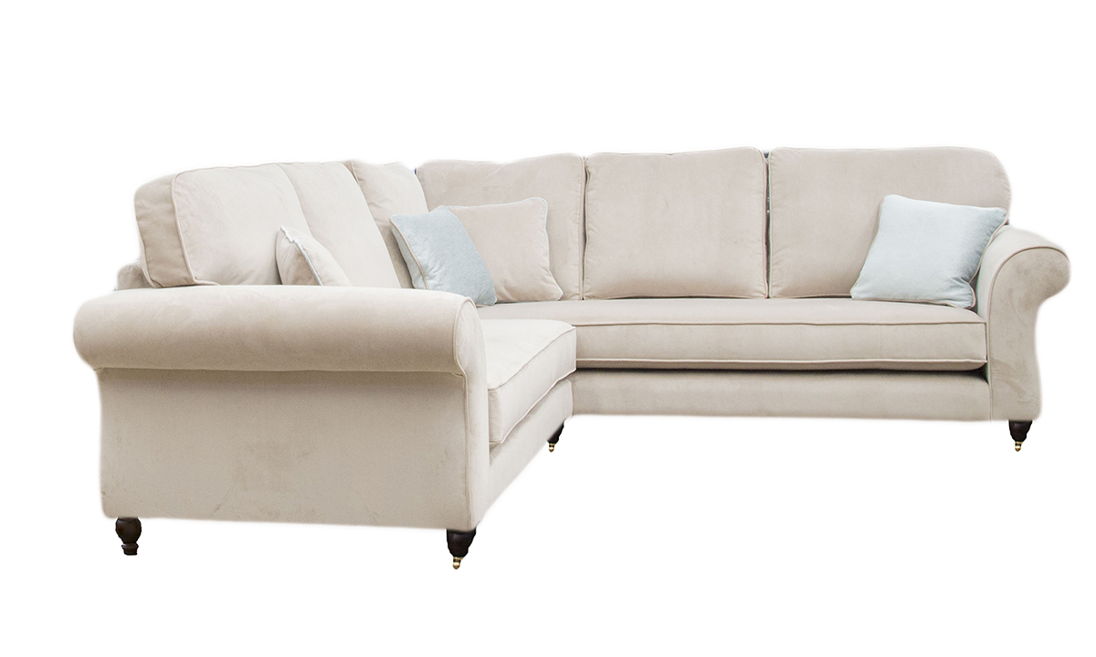 Aslan Corner Sofa in a Gold Collection Fabric