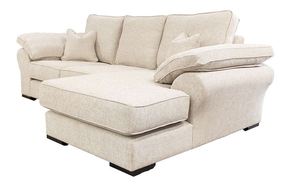 Atlas 3 Seater Lounger in Bravo Sand Silver Collection Fabric