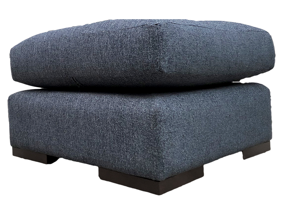Colorado Footstool in Belize Ink Bronze Collection Fabric