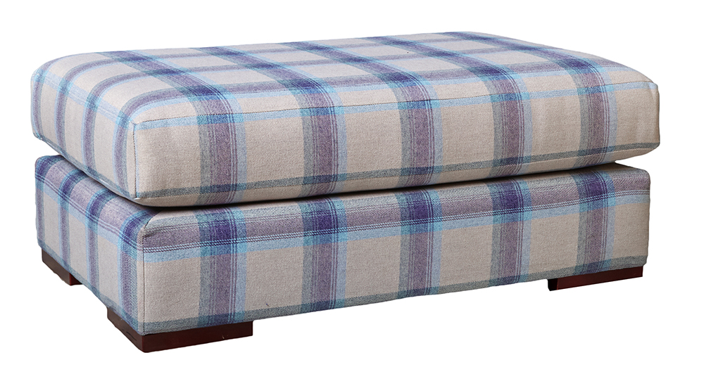 Colorado Island  in Aviemore Plaid Wedgewood Silver Collection Fabric
