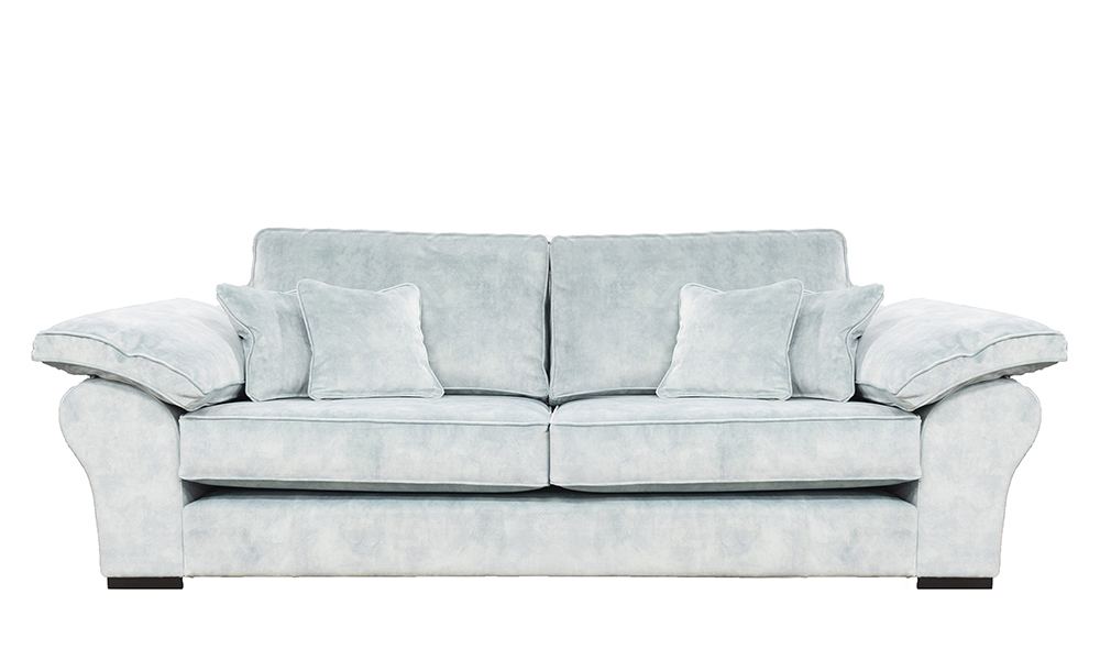 Atlas 3 Seater Sofa in Lovely Powder, Gold Collection Fabric
