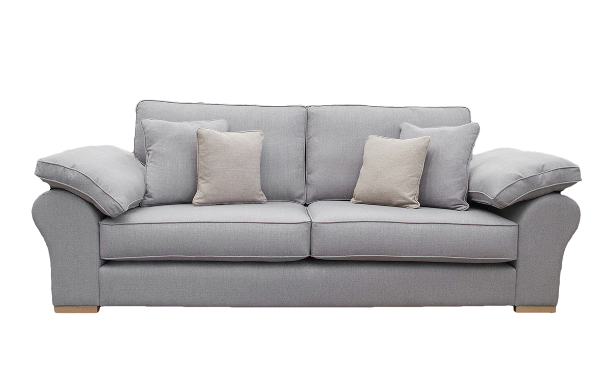 Atlas Large Sofa in Aosta Silver, Silver Collection Fabric