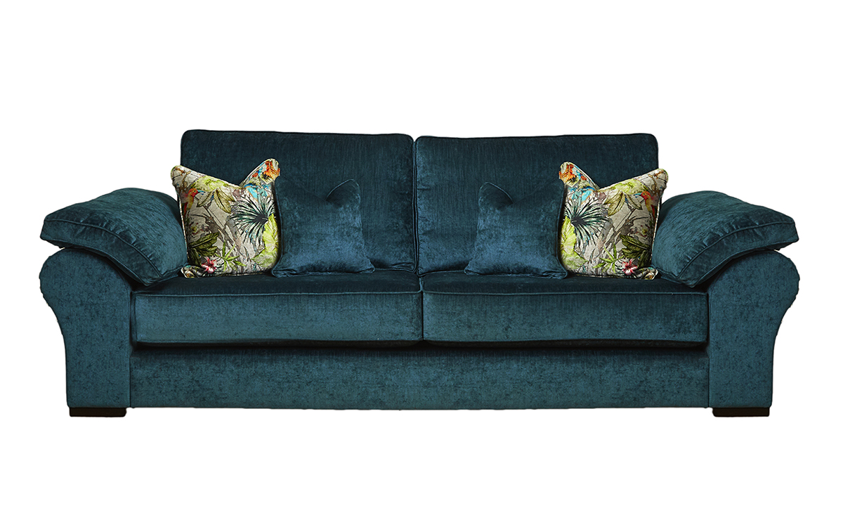 Atlas Large Sofa in  Edinburgh Petrol, Silver Collections Fabric