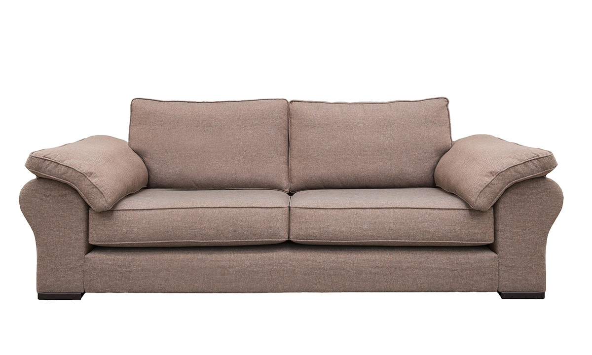 Atlas Large Sofa in Ado Chestnut, Bronze Collection Fabric
