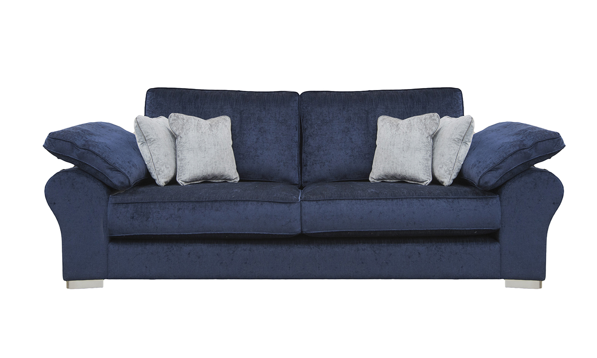 Atlas Large Sofa in Edinburgh Carbon, Silver Collectin Fabirc
