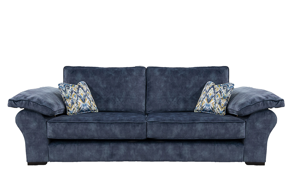 Atlas 3 Seater Sofa in Lovely Atlantic, Gold Collection Fabric