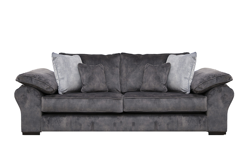 Atlas 3 Seater Sofa in Lovely Asphalt Gold Collection Fabric