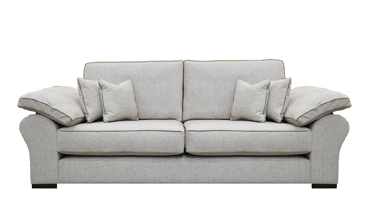 Atlas 3 Seater Sofa in Orca Plain ow258, Silver Collection Fabric