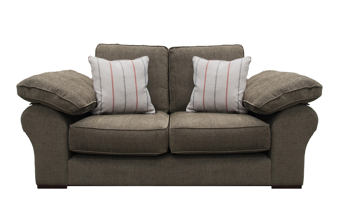 Atlas Small Sofa in Corrine Zinc, Bronze Collection Fabric