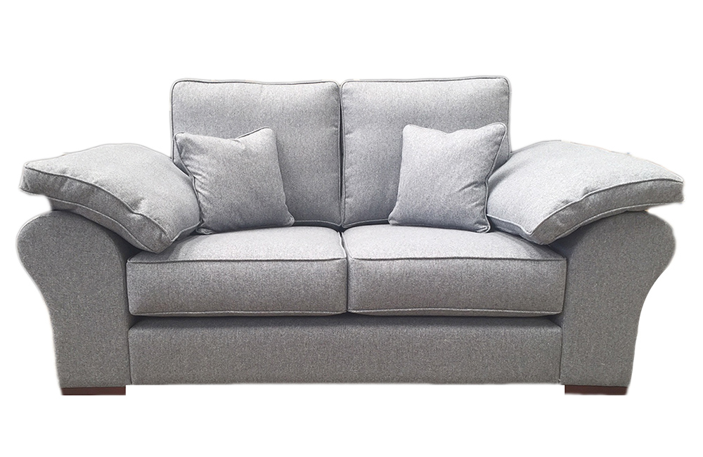 Atlas Small Sofa  in J. Brown McKenzie 30 Wedgwood, Silver Fabric Collection