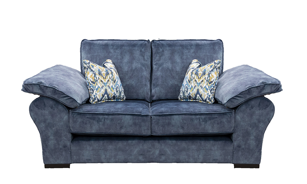 Atlas 2 Seater Sofa in Lovely Atlantic, Gold Collection Fabric