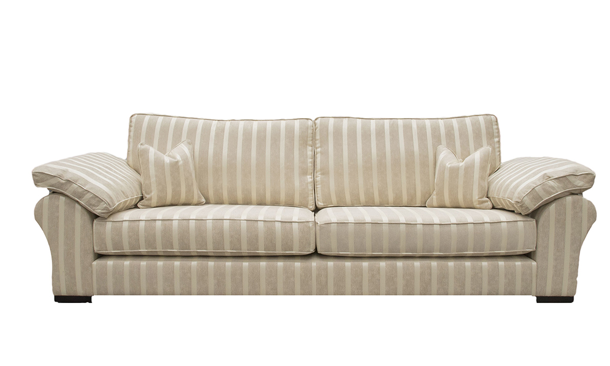 Bespoke Size Atlas Sofa  in Reflex Stripe Chiffon, Silver Collection