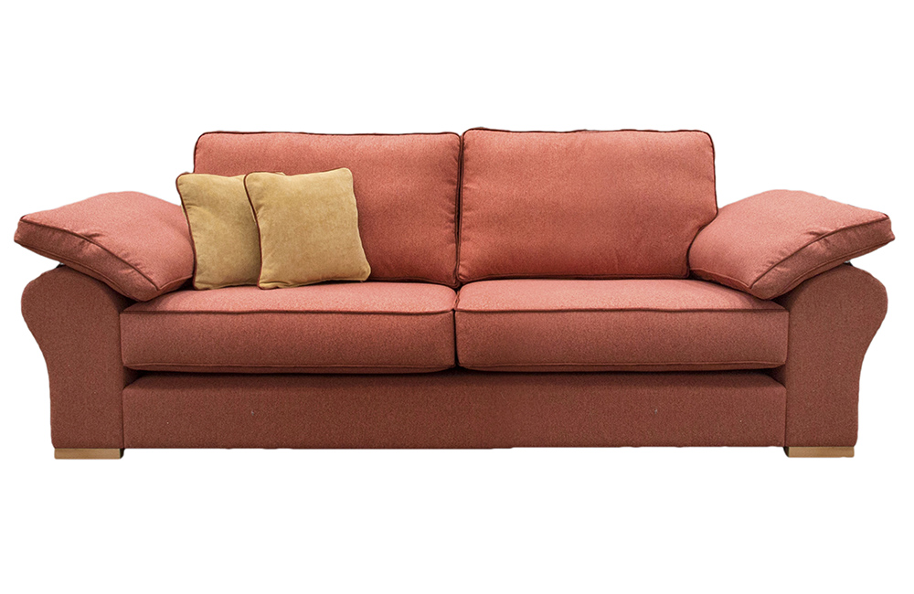 AtlasLarge  Sofa in J Brown Mckenzie 28 Lava, Silver Fabric Collection
